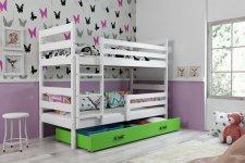 Patrová postel Norbert bílá/zelená