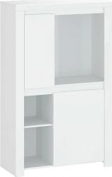 Skříňka LINDY 2D, bílý lesk