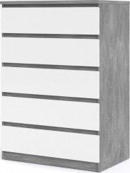 Komoda Simplicity 231 beton/bílý lesk