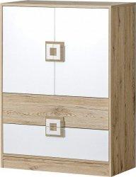 Dětská skříňka NIKO 9 dub jasný/bílá