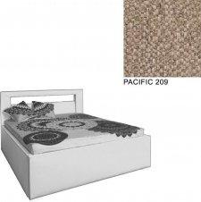 Čalouněná postel AVA LERYN 160x200, s úložným prostorem, PACIFIC 209