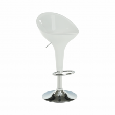 Barová židle ALBA NOVA, chrom/bílý plast