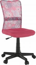Dětská židle GOFY, růžová/vzor/černá