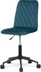 Dětská židle KA-T901 BLUE4, modrá/černý kov
