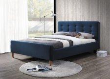 Čalouněná postel PINKO 160x200, tmavě modrá