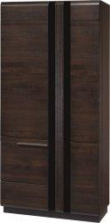 Šatní skříň PORTI P-70 dub čokoládový