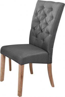 Jídelní čalouněná židle ATHENA šedá/dub natural