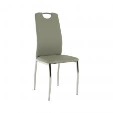Jídelní židle ERVINA, ekokůže šedá/chrom