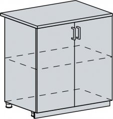 80D d. skříňka 2-dveřová VALERIA wk/bílá lesk