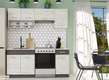 Kuchyňská linka Moreno III 180 cm, dub kraft bílý/grafit