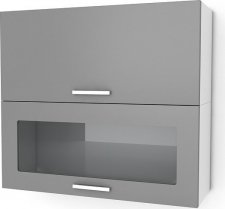Kuchyňská skříňka Natanya KL601D1W červený lesk