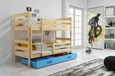 Patrová postel Norbert borovice/modrá