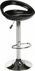 Barová židle  DONGO NOVE, chrom/černý plast