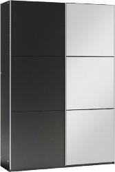 Šatní skříň VIGO 120 černá/černá