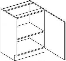 D50P dolní skříňka jednodvéřová NORA de LUX hruška