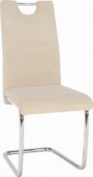 Pohupovací jídelní židle ABIRA NEW béžová Dulux Velvet látka/chrom