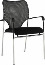 Konferenční židle UMUT stohovatelná, černá