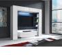 Televizní stěna, sestava MONTEREJ bílá vysoký lesk