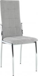 Jídelní židle ADORA NEW, šedá látka/chrom