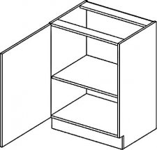 D60L dolní skříňka jednodvéřová PREMIUM olše