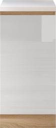 Spodní kuchyňská skříňka LINE D 40, dub sonoma/bílý lesk