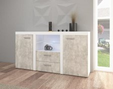 Komoda RIZO 2D2S bílá/beton