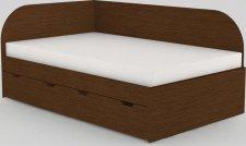 Dětská postel REA GARY 120x200 s úložným prostorem, levá, WENGE