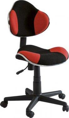 Dětská židle Q-G2 černá/červená