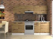 Kuchyňská linka Luigi 240 cm, dub artisan
