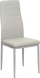 Jídelní židle COLETA NOVA šedá ekokůže/stříbrný kov