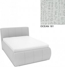 Čalouněná postel AVA EAMON UP s úložný prostorem, 140x200, OCEAN 181