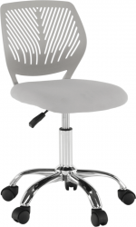 Dětská židle SELVA, šedá/chrom