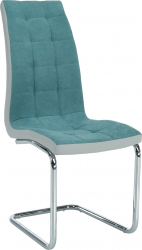 Pohupovací jídelní židle SALOMA NEW, mentolová látka/šedá ekokůže/chrom