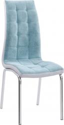 Jídelní židle GERDA NEW, mentolová/chrom