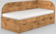 Dětská postel REA GARY 90x200 s úložným prostorem, pravá, LANCELOT