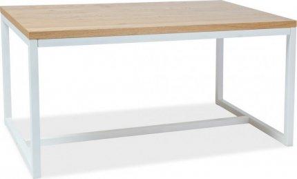 Jídelní stůl LORAS A 180x90 dýha dub/bílá