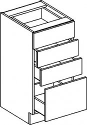 D40S4 dolní skříňka se zásuvkami NORA hruška