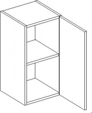 D30 d. skříňka CORAL II bílá pravá