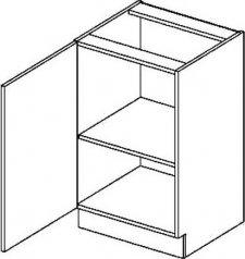Spodní kuchyňská skříňka PREMIUM de LUX D50L, 1-dveřová, olše