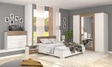 Ložnice MARKOS andersen/april (postel 160, 2 noční stolky, komoda 4S, skříň 4D)