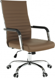 Kancelářská židle FARAN, ekokůže taupe/chrom
