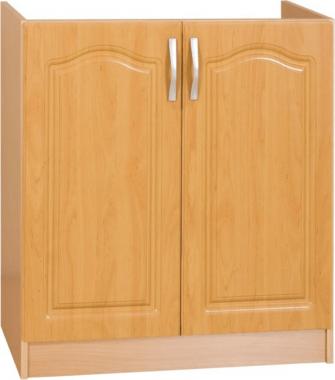 Spodní kuchyňská skříňka LORA MDF NEW KLASIK S80ZL dřezová, olše