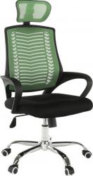 Kancelářská židle IMELA TYP 1, zelená/černá/chrom