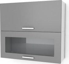 Kuchyňská skříňka Natanya KL1001D1W červený lesk
