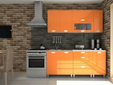 Kuchyňská linka Timothy KRF 180 cm, oranžový lesk
