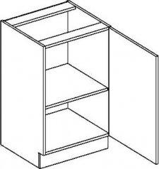 D50P dolní skříňka jednodvéřová PREMIUM de LUX olše