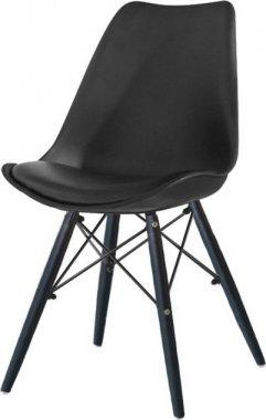 Židle, černá / dřevo, KEMAL