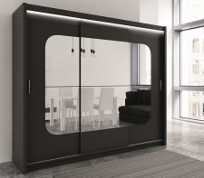 Šatní skříň FREMONT 250 černá