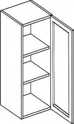 Horní kuchyňská skříňka PREMIUM W40WP/120 nástavná, olše/čiré sklo