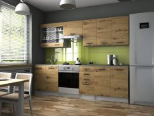 Kuchyňská linka Pamis 260 cm, dub artisan